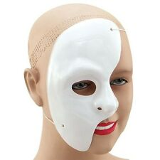 4 Face White Phantom Of The Opera Plastic Mask Fancy Dress Halloween