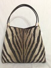 NWT! Coach Madison Small Phoebe Shoulder Bag In Zebra Print Fabric Retail $278