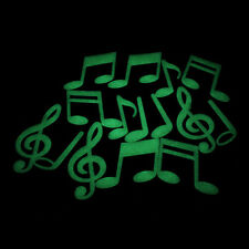 Music Notes Glow In The Dark Luminous Fluorescent Home Wall Stickers Decal WELL