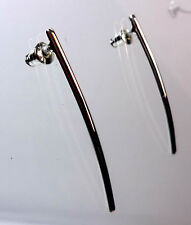 ELEGANT SILVER CLEAN PLAIN EARRING BRAND NEW UNIQUE FAST DELIVERY STUNNING (A14)