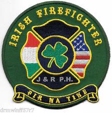 """Irish Firefighter  """"FIR NA TINE""""   (4"""" x 4"""" size) fire patch"""