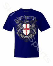 Lambretta Mens T-shirt Casual Shirt Tee S M L XL 4xl 5xl-with Tag Crest Deep Royal Small