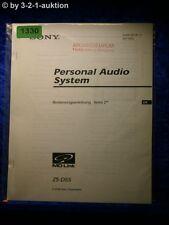 Sony Bedienungsanleitung ZS D55 Audio System (#1330)