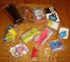 x13 FAST FOOD Toys WENDY'S MCDonalds ROY ROGERS Captain Crunch The Flintstones