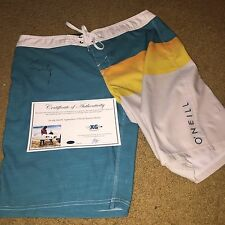 Jordy Smith Signed Autographed O'Neill Signature Surf Board Shorts Wsl-Proof Coa