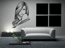Beautiful Stunning Woman Hair Salon Wall Art Sticker Decal Home Decor O8