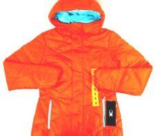 NWT SPYDER Women's Orange Geared Hoody Synthetic Down Full Zip Hooded Jacket S