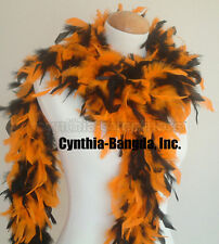 Orange / Black Mixture 65 Grams Chandelle Feather Boa Party Halloween Costume