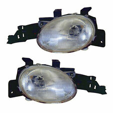 Brand New Pair (Left & Right) Headlight Assemblies Fit 1995-1999 Dodge Neon