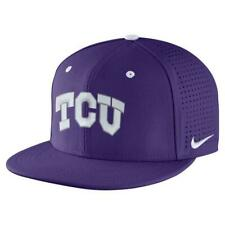 Nike Men's TCU Horned Frogs Aerobill Fitted Baseball Cap Hat NWT 7 1/4