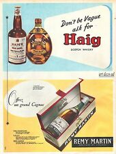 1960 HAIG and REMY MARTIN Cognac  Vintage Bar Decor ad  Vintage Advertising - Z2