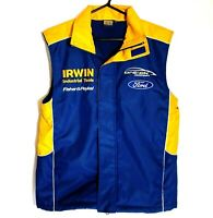 Irwin Racing V8 Supercars FORD Embroidered Vest Size S Sleeveless Fleecy Lined