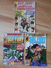 Lot of 3 SGT FURY & HOWLING COMMANDOS 12 148 159 Marvel Comics Silver Bronze War