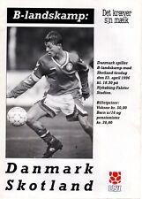 More details for 1996 denmark v scotland (b international – incs team sheet)