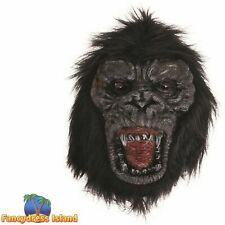 Black Gorilla Mask Ferocious Halloween Mask Adult Mens Fancy Dress Costume