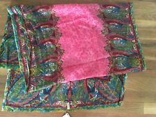 """NWT Lucky Brand watercolor 100% fine wool scarf/wrap 26"""" x 75"""""""