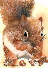 ACEO Limited Edition- Animal art print, Favorite season