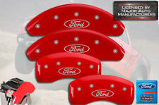 """2002-2004 """"Ford"""" Focus SVT Front + Rear Red MGP Brake Disc Caliper Covers"""