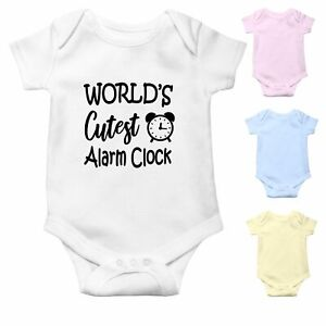 World's Cutest Alarm Clock    Funny Baby Grow   Baby Shower Cute Gift Idea