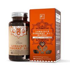 LongJack Tongkat Ali 200:1 Capsules | Testosterone Booster | MADE IN THE UK