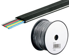 0,13/m 100m Telefonkabel Telefon Leitung Flachkabel 6Adrig Telefon Kabel schwarz