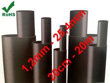 Meter Schrumpfschlauch Schrumpfrate 2:1 Schwarz Set (1,2mm-25,4mm) (20cm - 20m)