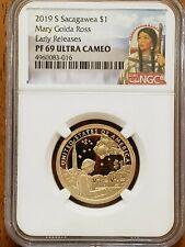 2019-S Sacagawea,Mary Ross Dollar NGC PF69 UCAM Early Releases #AA168-3