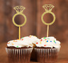 20x Engagement ring cupcake toppers Diamond Ring Wedding Bridal Cupcake Toppers