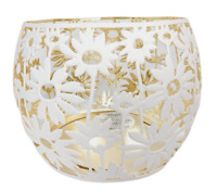 Bath and Body Works White Daisy Candle Holder Fits Large 3 Wick New Free Ship