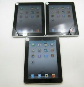 Lot of 3 Apple iPad 1st Generation A1219 Wi-Fi Only 16GB Fair Condition 6-6781