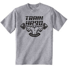 BODY BUILDING TRAIN HARD EVERYDAY - NEW COTTON T-SHIRT