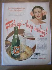 Original 1945 7up Magazine  Ad - You'll Win Friends Faster
