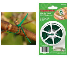 SupaGarden Clip 'N' Twist Tie 30m Strong Plastic Coated Wire & Built In Cutter