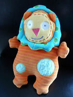 Q5/ DOUDOU comfoter LION - ALEX JR - orange bleu vert jaune - EXCELLENT ETAT !