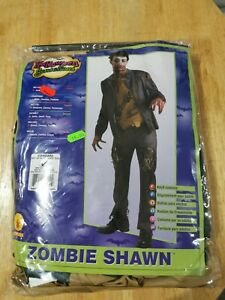 """Zombie shawn costume fancy dress cosplay adults large upto 44"""" Chest"""