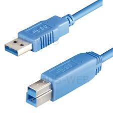 USB 3.0 Kabel A Stecker auf B Stecker 1,8m ca. 2 m Druckerkabel Datenkabel blau