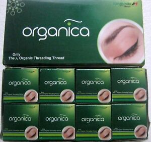 Organica Organic Eyebrow Threading Thread Box of 8 Spools