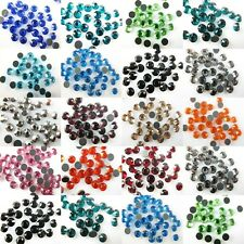 Assorted Colors Faltback Hotfix Iron Sewing Decorate Crystal Rhinestone 6mm SS30