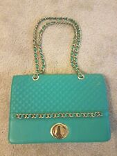 Bodhi Quilted Leather Turnlock Shoulder Bag new.  Turquoise