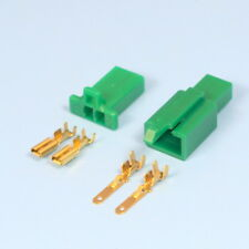 Quality 2 Way 2.8mm Mini Electrical Connector Kit Green Motorbike Motorcycle Car