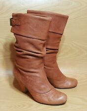 Steve Madden Mid Calf Leather Slouch Boots Women's Size 9