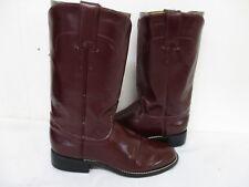 Tony Lama Burgundy Leather Roper Cowboy Boots Womens Size 4 B Style 7507L