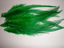 lot de 10 plumes verte 10 a 12 cm