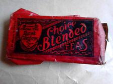 vintage antique tea packet Walter Williams elephant