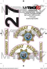 CHP Sticker Set, RC Car Decal, MYK-ST1