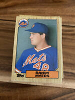 (100) 1987 Topps Randy Myers Rookie #213 New York Mets NM+