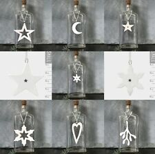 East of India Porcelain Festive Hangers Snowflake Mistletoe Star Moon Heart Tree