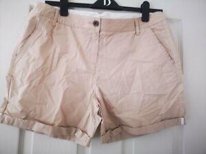 Ladies Next Chino Shorts Size 14, beige/stone