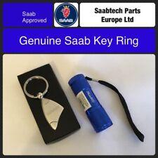 GENUINE SAAB KEY RING PLUS FREE LED TORCH.