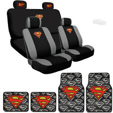 Ultimate Superman Car Seat Covers BAM Logo Headrest Covers Mats Set For BMW